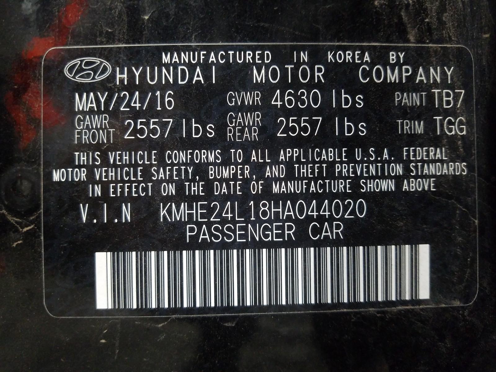 Hyundai Sonata hyb 2017
