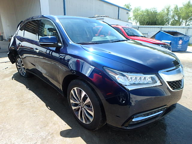 COPART Lot #22464405 2015 ACURA MDX TECH