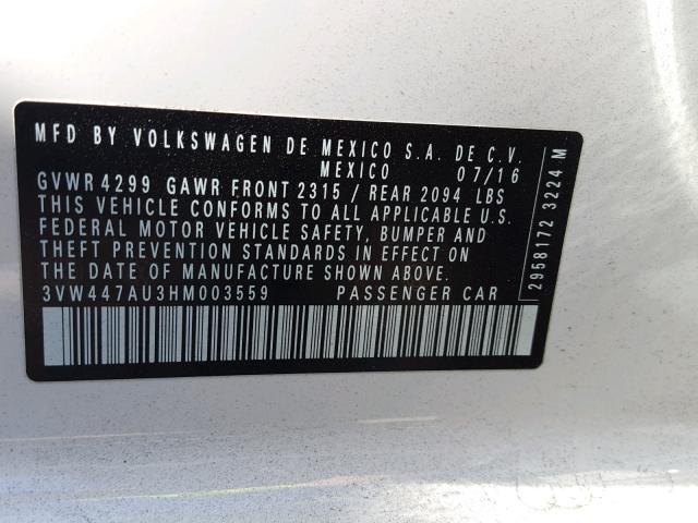 VOLKSWAGEN GTI S/SE 2017