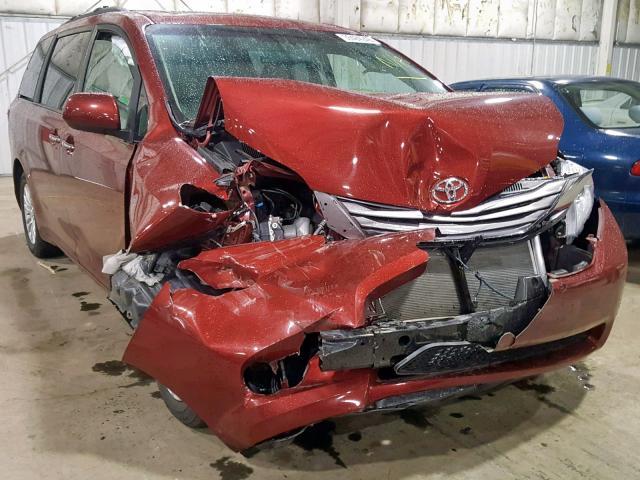 2017 Toyota Sienna xle 3.5. Lot 36484249 Vin 5TDYZ3DC8HS864317