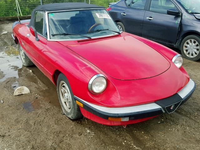 1987 Alfa romeo SPIDER VEL 2.0. Lot 38817129 Vin ZARBA5580H1048322