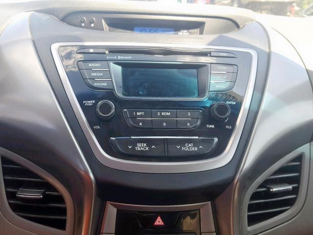 2013 Hyundai Elantra gl 1.8. Lot 45412639 Vin KMHDH4AE3DU937043
