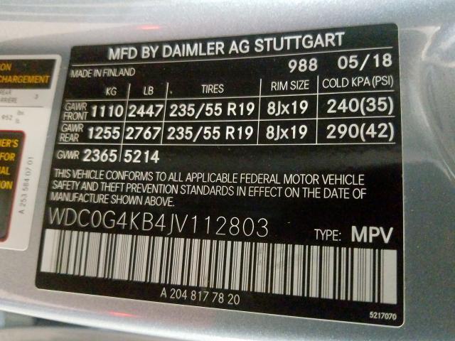 2018 Mercedes-benz Glc 300 4m 2.0. Lot 35998070 Vin WDC0G4KB4JV112803