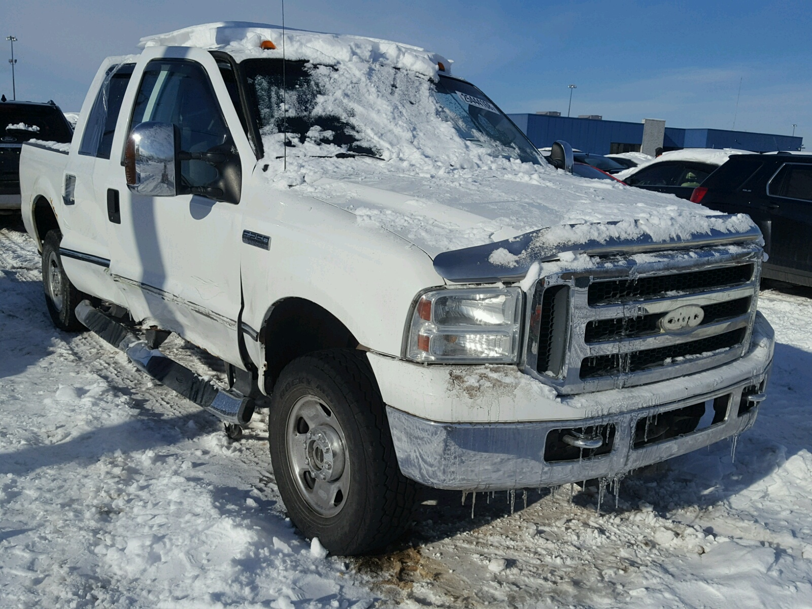 1ftsw21546ec21139 2006 White Ford F250 Super On Sale In Mi F 250 Duty 54l Left View