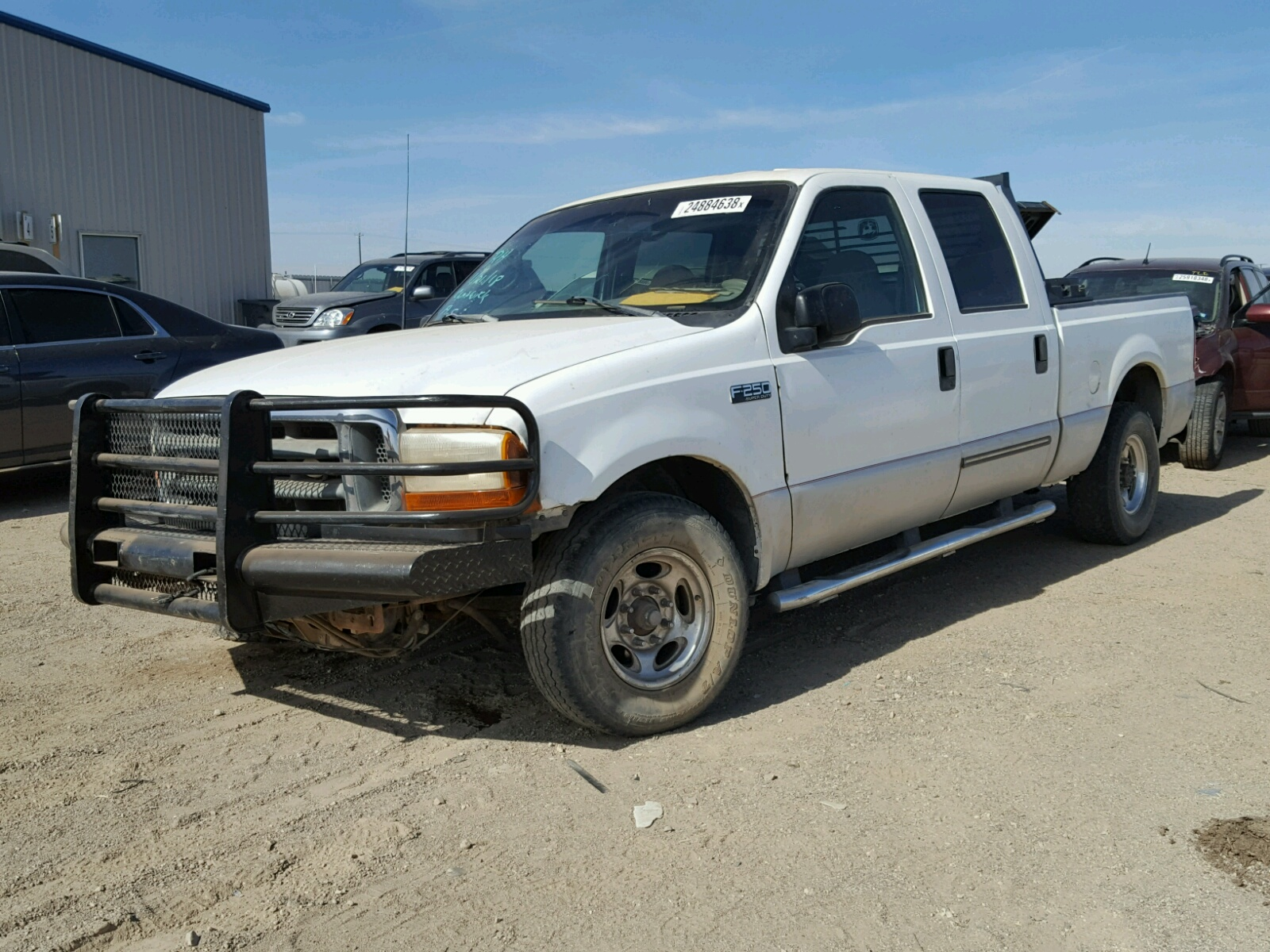 1ftnw20f3yec94433 2000 White Ford F250 Super On Sale In Tx F 250 Duty 73l Right View
