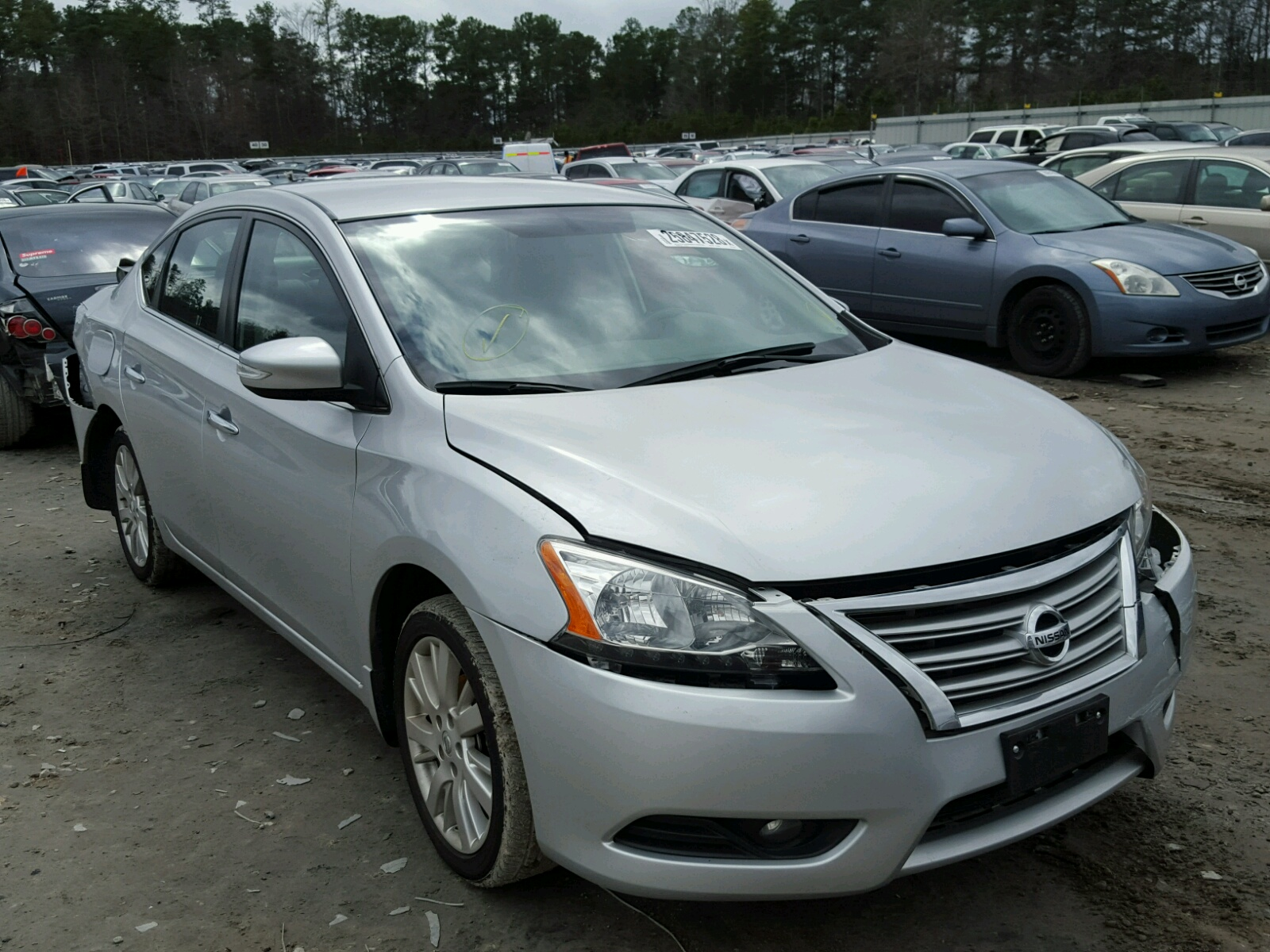 in south nissan carfinder ga en of online on lot sentra auto silver view s copart atlanta salvage left cert auctions title sale
