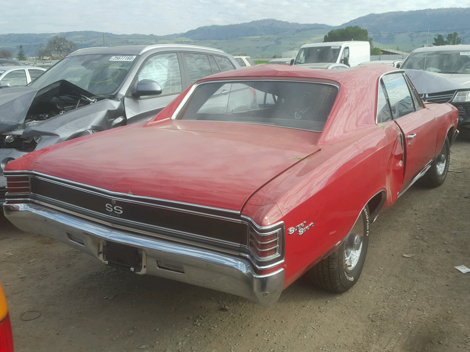1967 Chevrolet Chevell SS for sale at Copart San Martin CA Lot