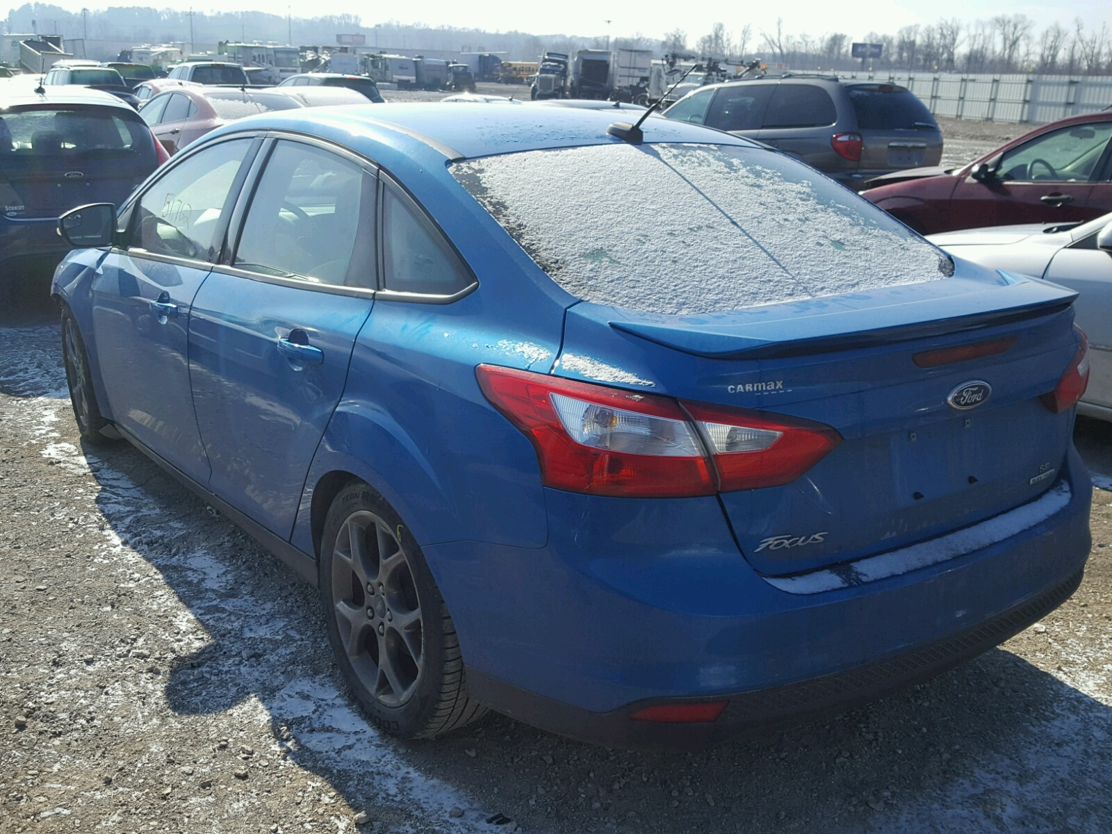 1fadp3f25el207437 2014 Blue Ford Focus Se On Sale In Il Southern Frame 20l Angle View