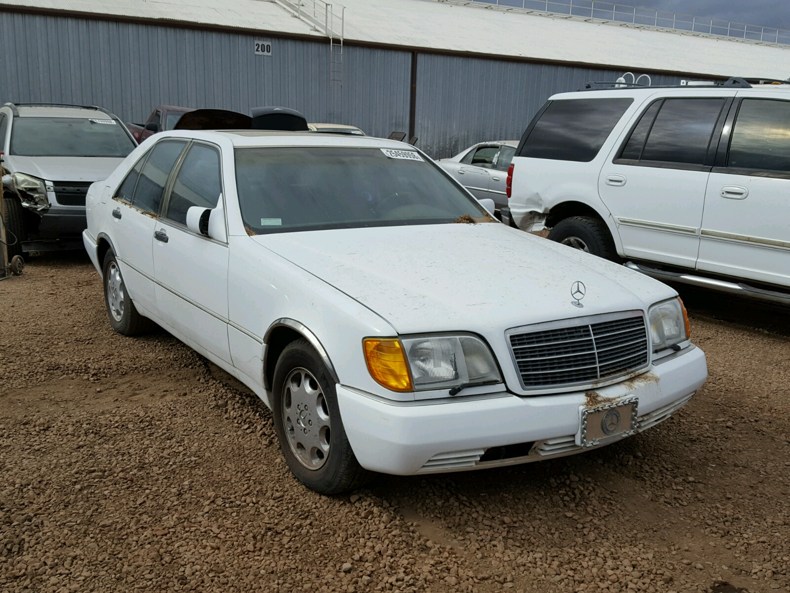Auto auction ended on vin wdbfa66e5nf049078 1992 mercedes for Mercedes benz 400 se