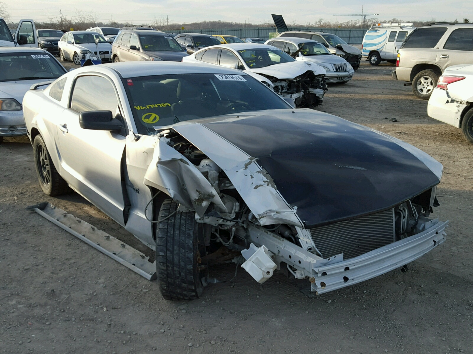 1ZVHT82H685174789   2008 SILVER FORD MUSTANG GT on Sale in KS ...