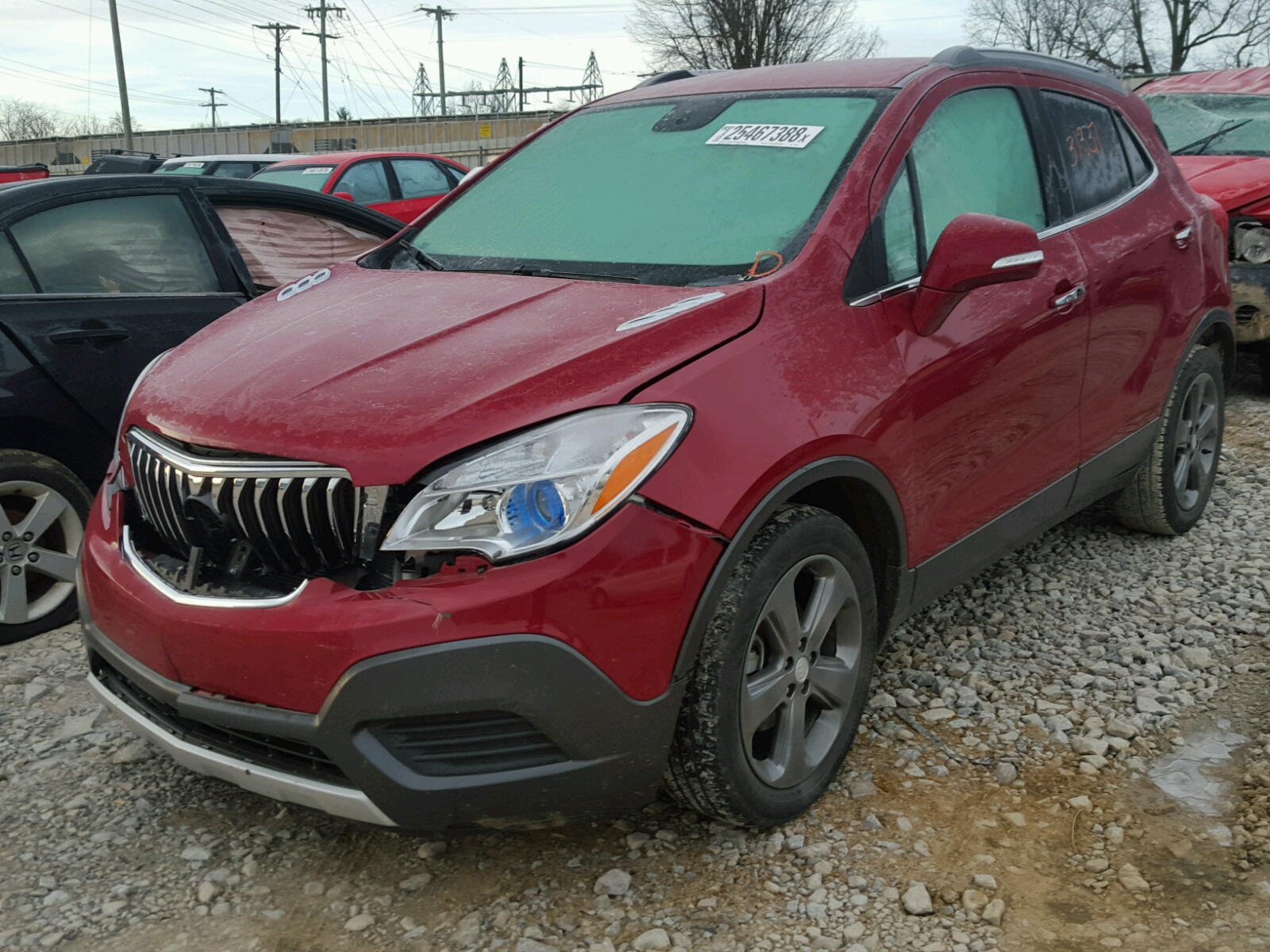copart red view sale in city buick auctions for encore lot carfinder ok cert on of salvage auto title right online en oklahoma