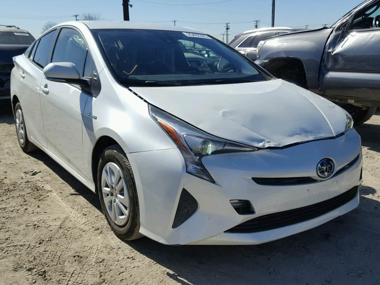 auto auction ended on vin jtdkbrfu5h3030252 2017 toyota prius in az phoenix. Black Bedroom Furniture Sets. Home Design Ideas
