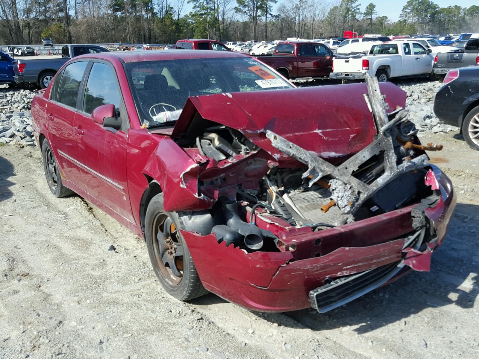 Salvage 2006 Chevrolet MALIBU LT for sale