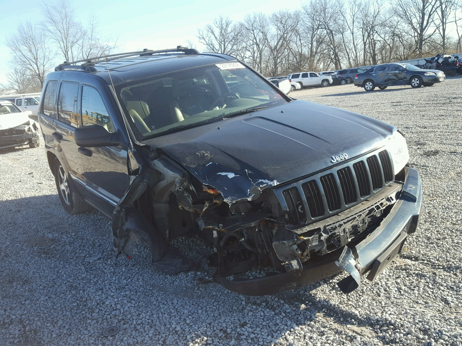 1j4hr48n35c693159 2005 Green Jeep Grand Cher On Sale In Ky Cherokee 47l Left View