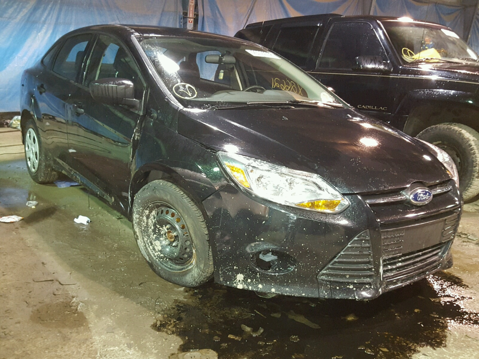 1fadp3e29el429805 2014 Black Ford Focus S On Sale In Hammond Lights 20l Left View