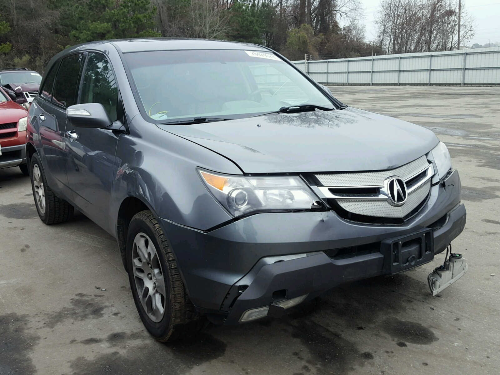 view salvage nc on carfinder auctions auto in en raleigh copart certificate title left sale techno lot for acura mdx online of charcoal