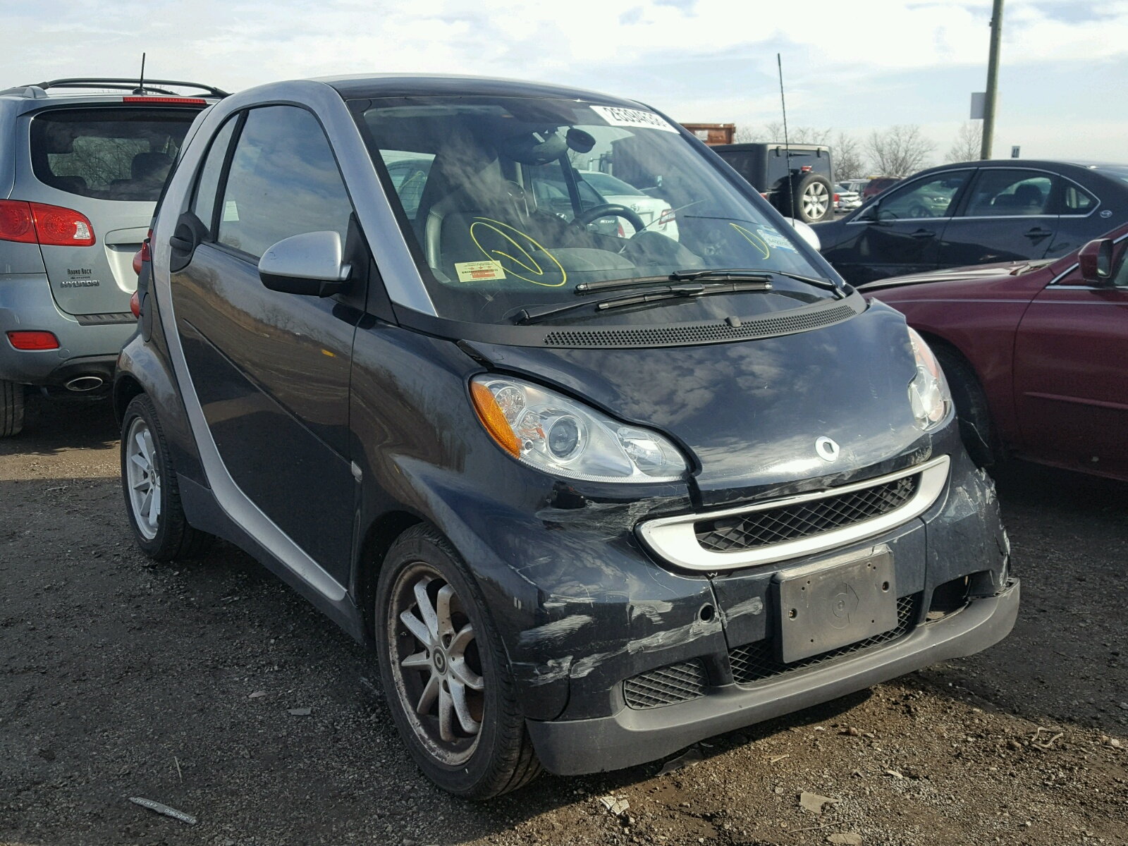 Auto Auction Ended on VIN WMEEJ31X48K 2008 SMART FORTWO PUR