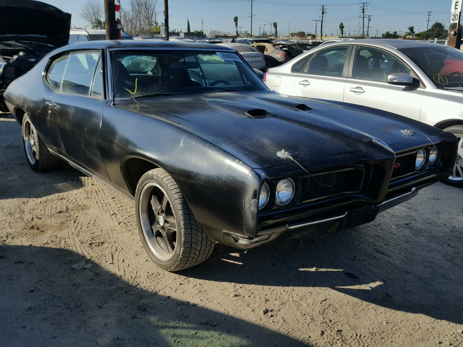 1969 pontiac gto for sale at copart houston tx lot 40620687. Black Bedroom Furniture Sets. Home Design Ideas
