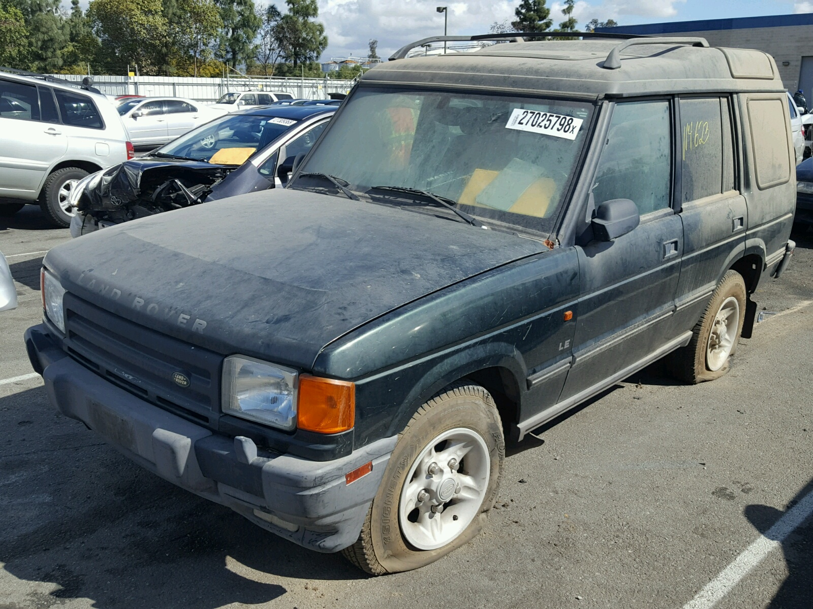 1998 Land Rover Discovery Side Damage Saljy1243wa754444 Sold 2