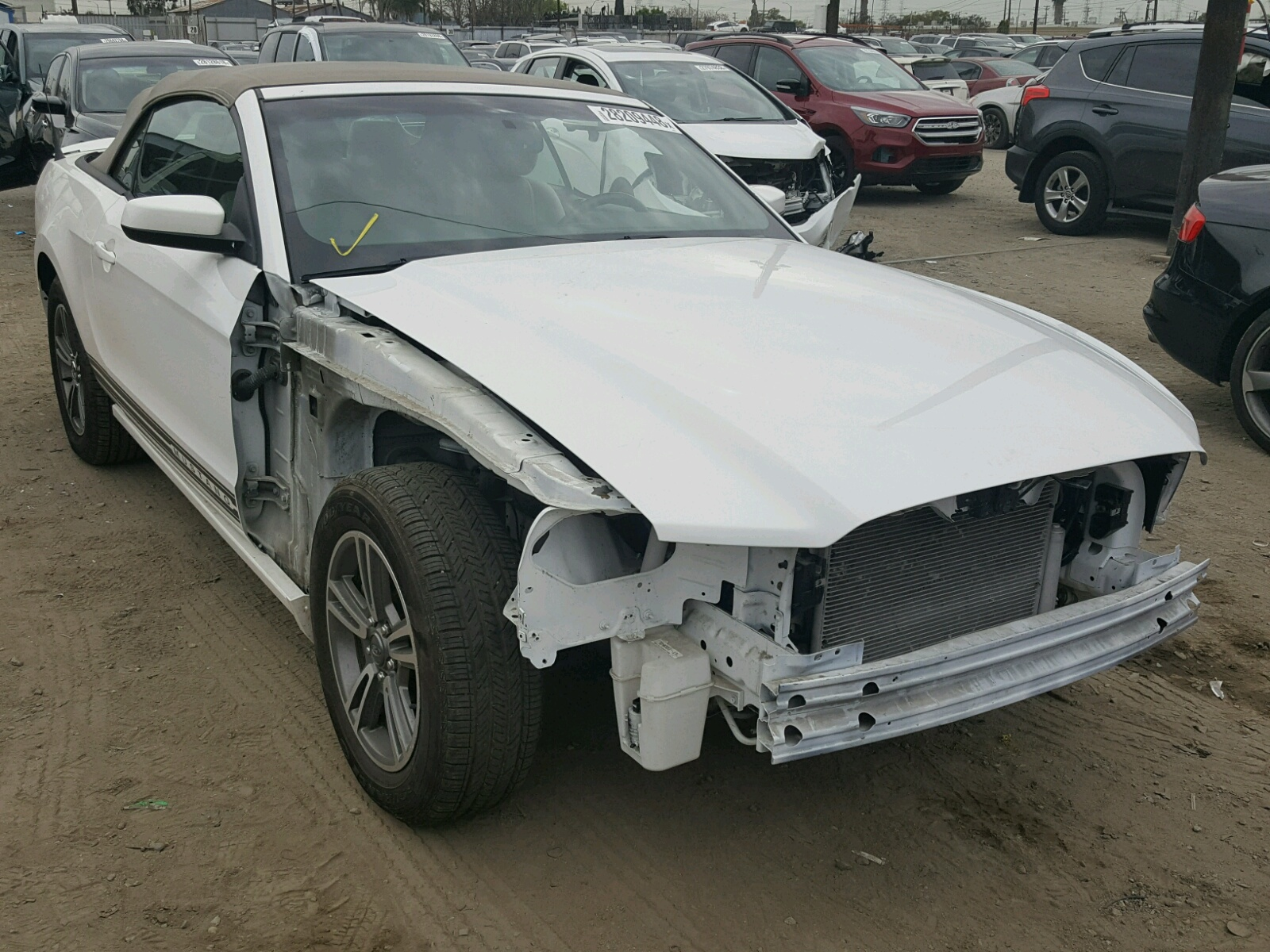 1ZVBP8EM1D5202706 | 2013 WHITE FORD MUSTANG on Sale in CA - LOS ...