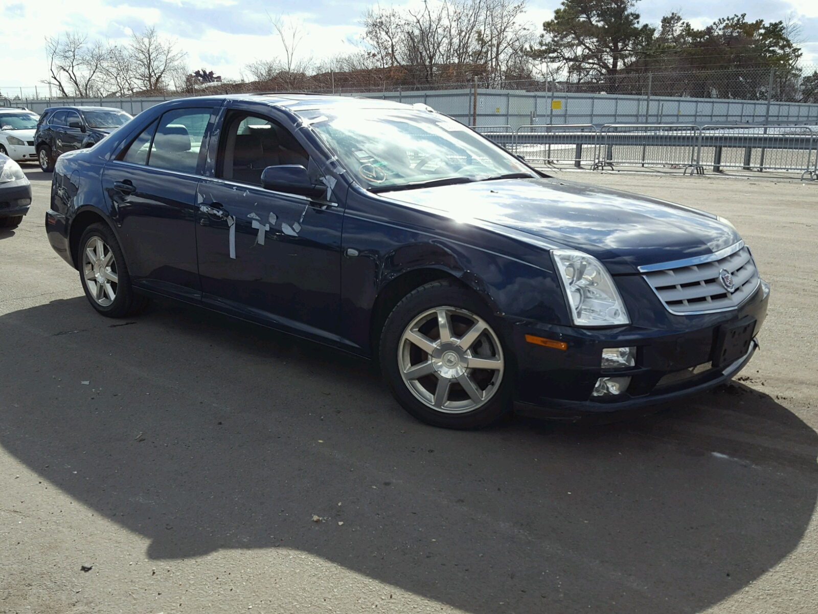 in sts on auctions blue lot cadillac ny of view en long island copart sale online v auto left carfinder certificate title for