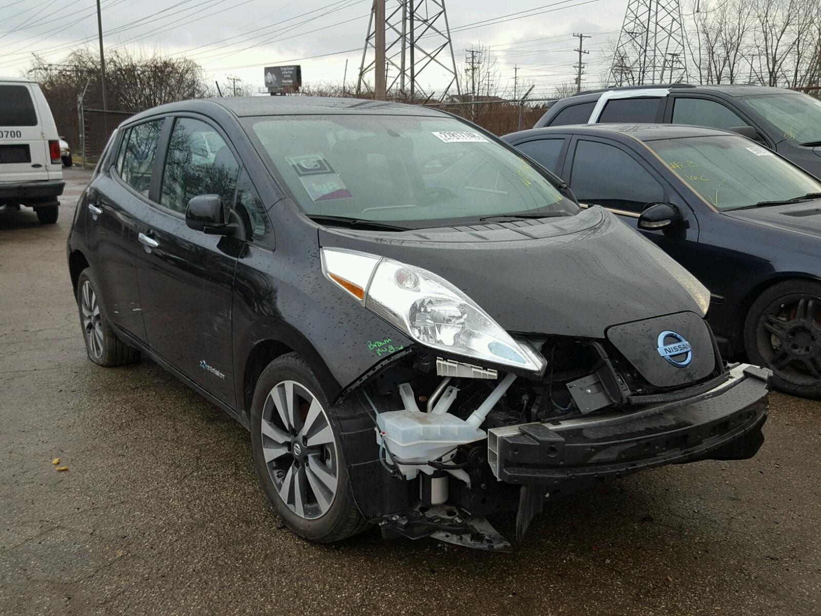 Salvage 2016 Nissan LEAF SV for sale