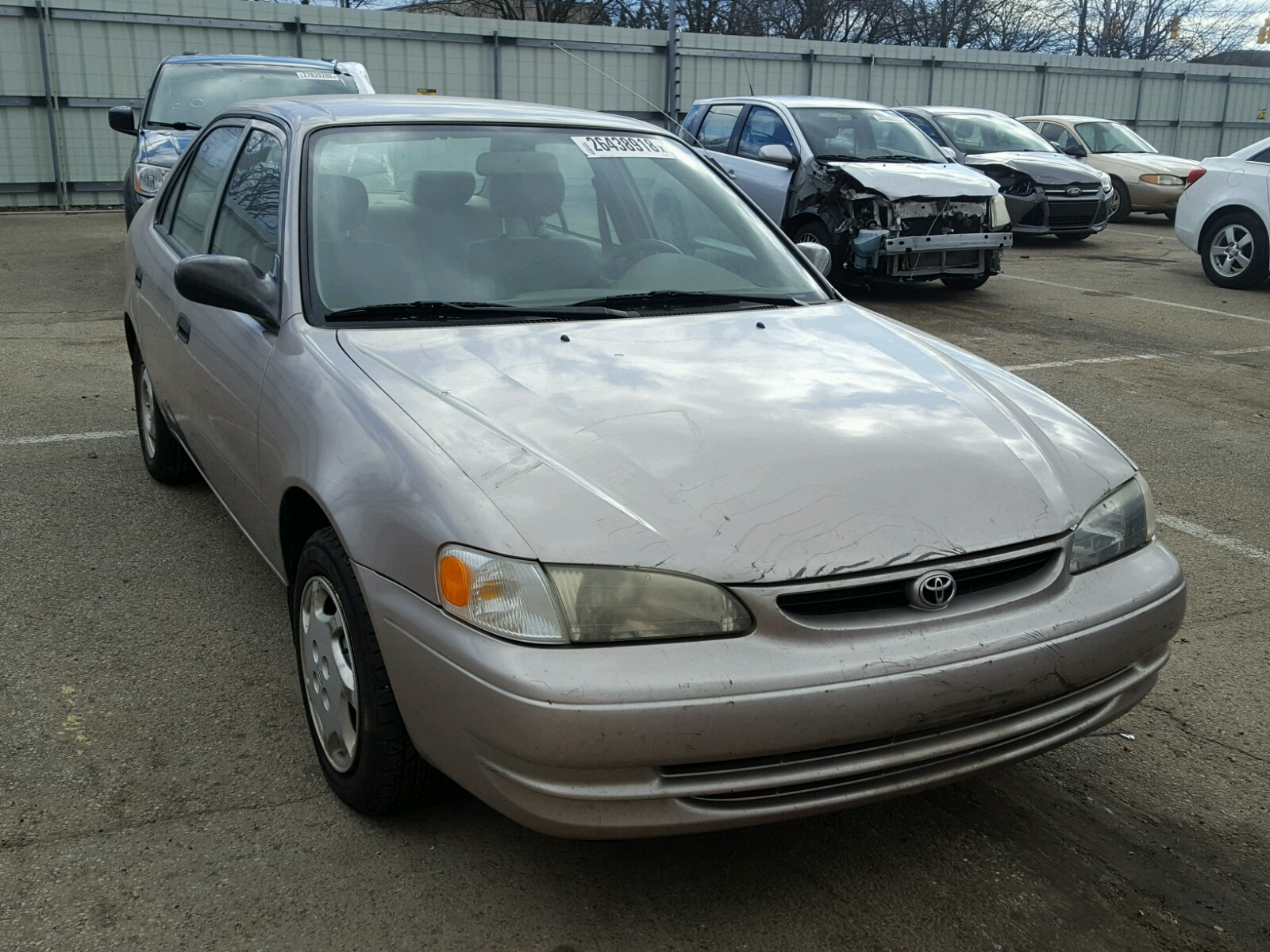 1999 toyota corolla ve for sale at copart moraine oh lot. Black Bedroom Furniture Sets. Home Design Ideas