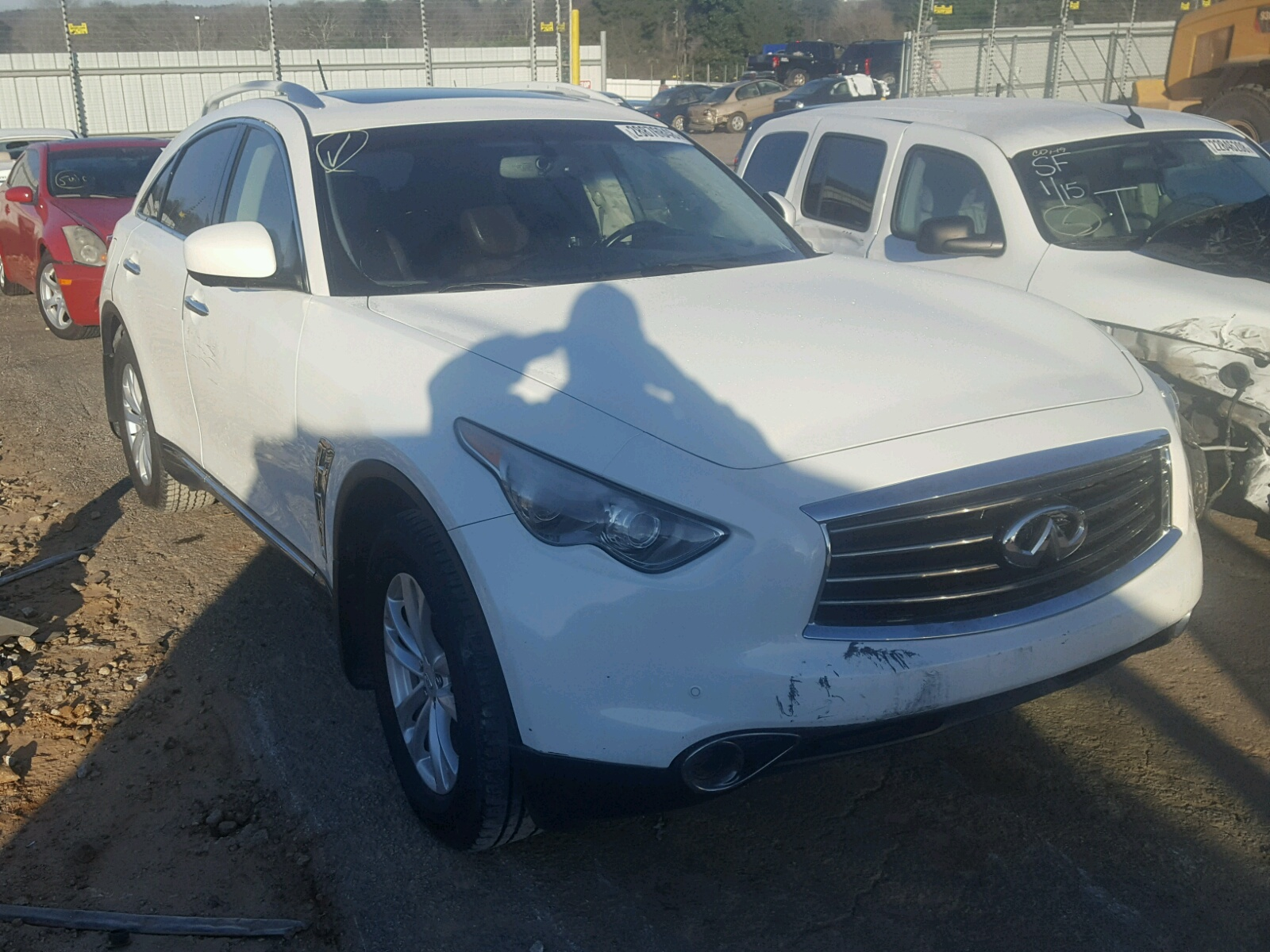 JN8AS1MU4CM120497   2012 INFINITI FX35 3.5L Left View