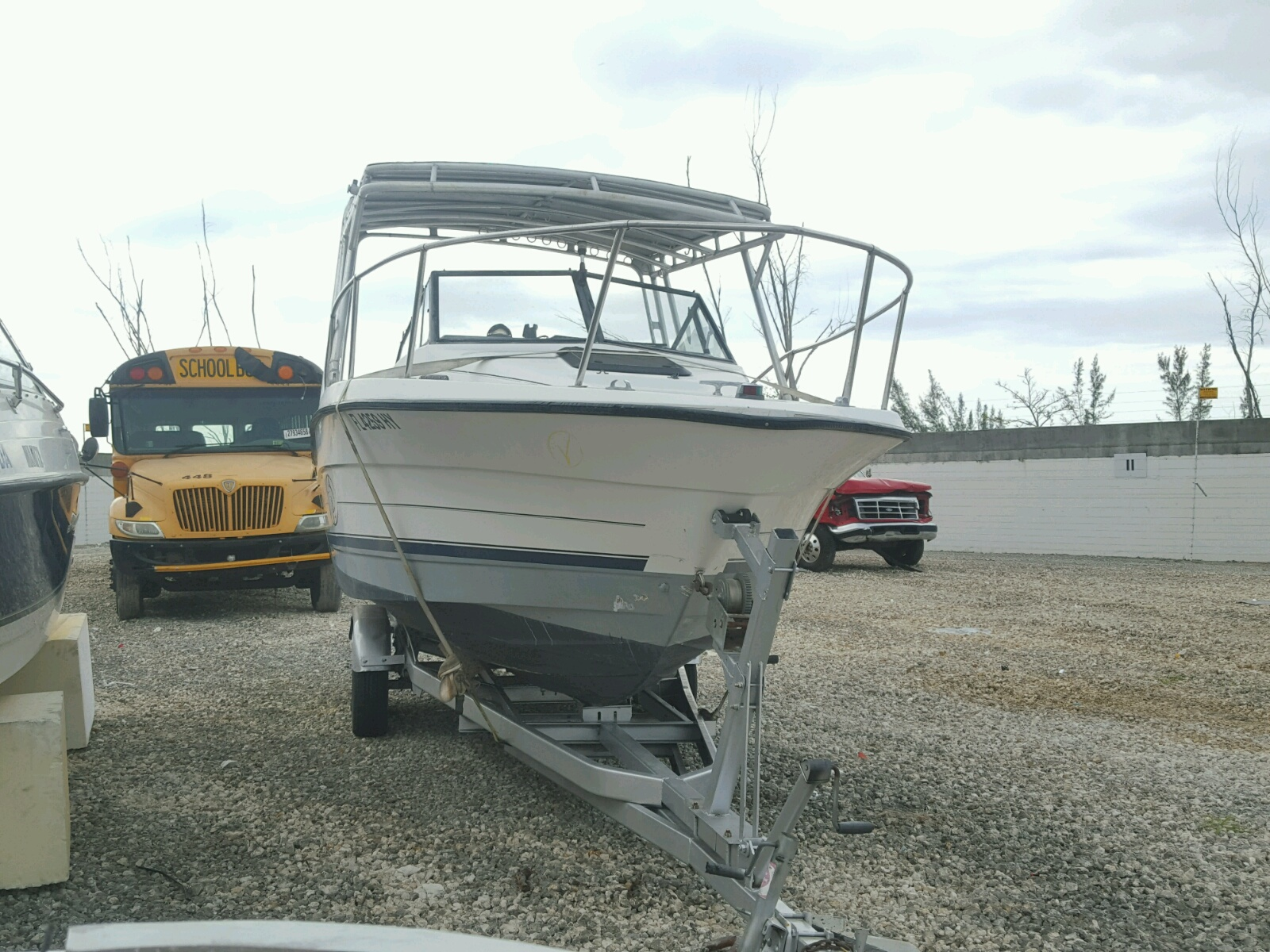 Salvage 1995 Boat MARINE TRAILER for sale