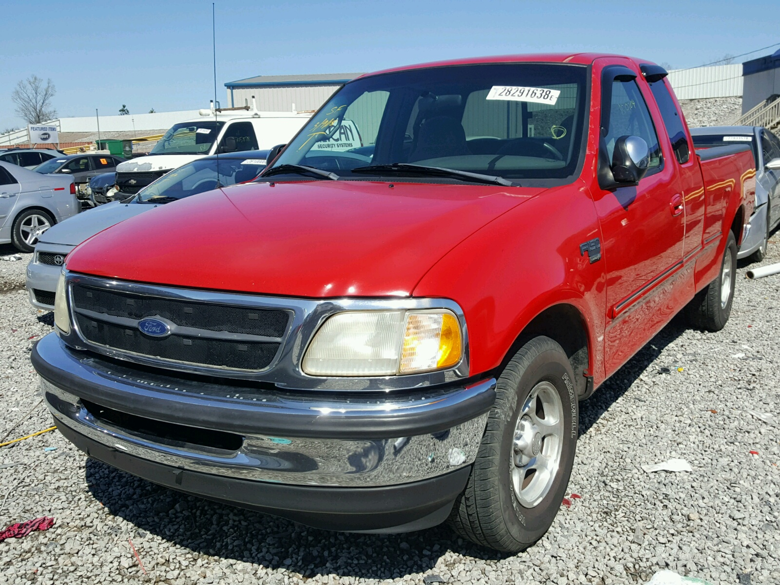 1998 Ford F150 Rear End Damage 1ftzx1768wnc20579 Sold Security Systems 1 2