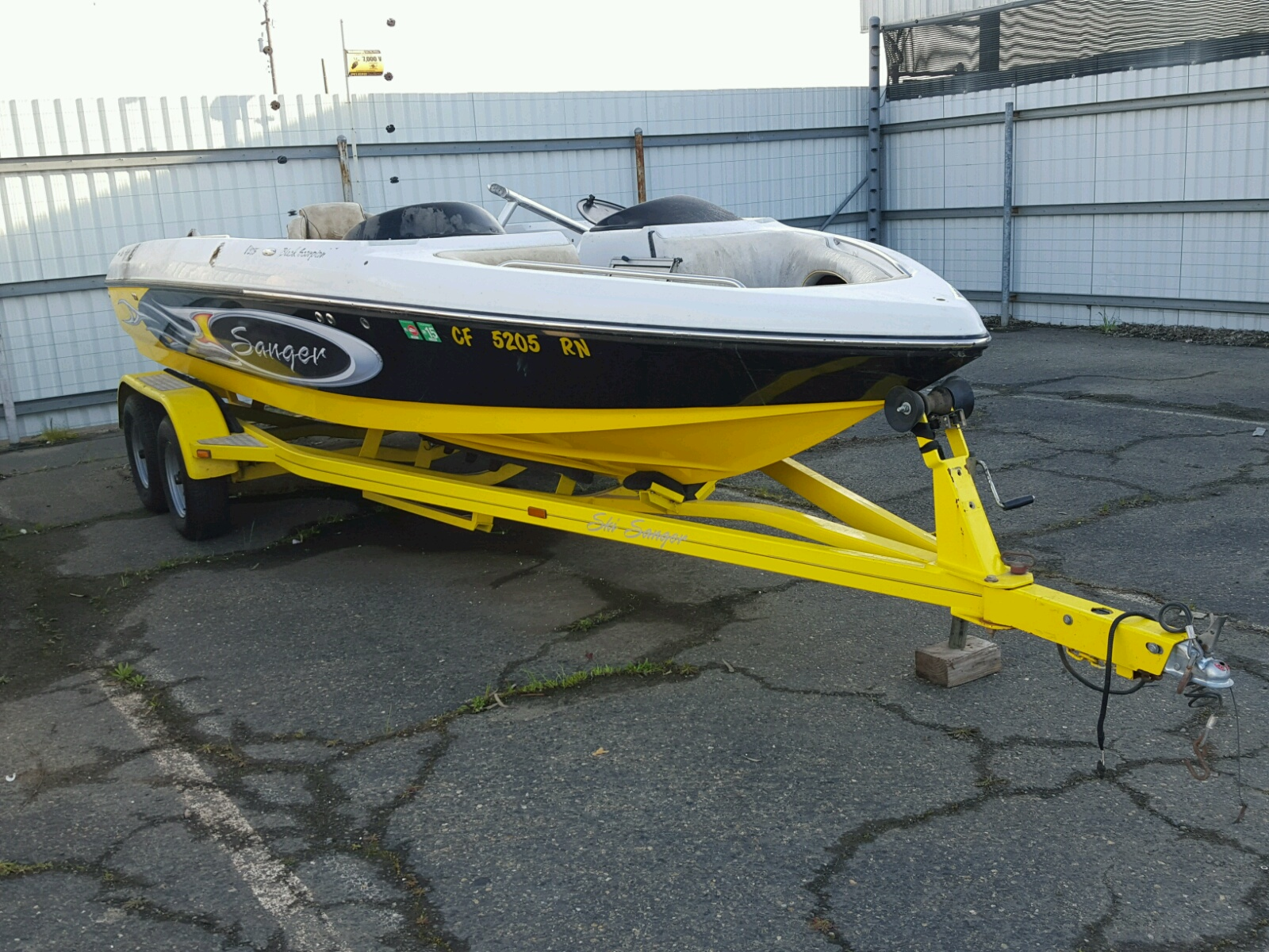 Salvage 2006 Sang MARINE TRAILER for sale