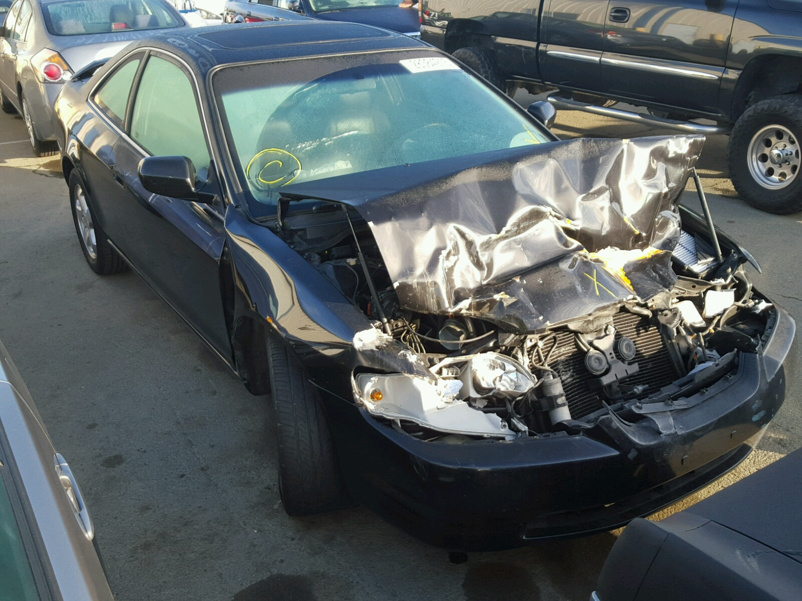 1hgcg2259xa016068 1999 Black Honda Accord Ex On Sale In Ca 30l Left View