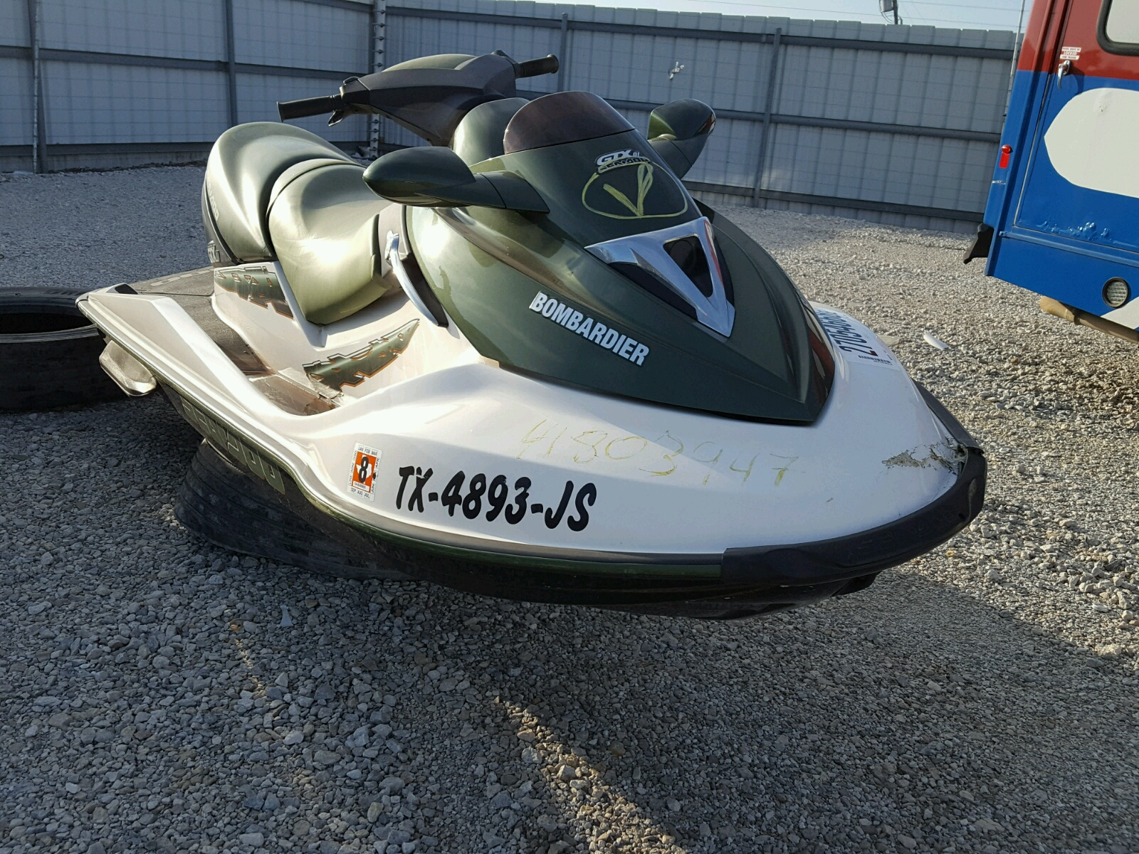 Salvage 2002 Seadoo GTX for sale