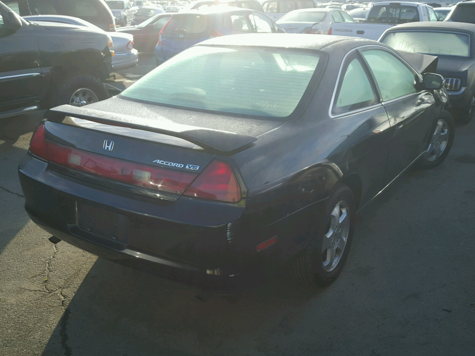1999 Honda Accord Ex Front End Damage 1hgcg2259xa016068 Sold Coupe V6 4