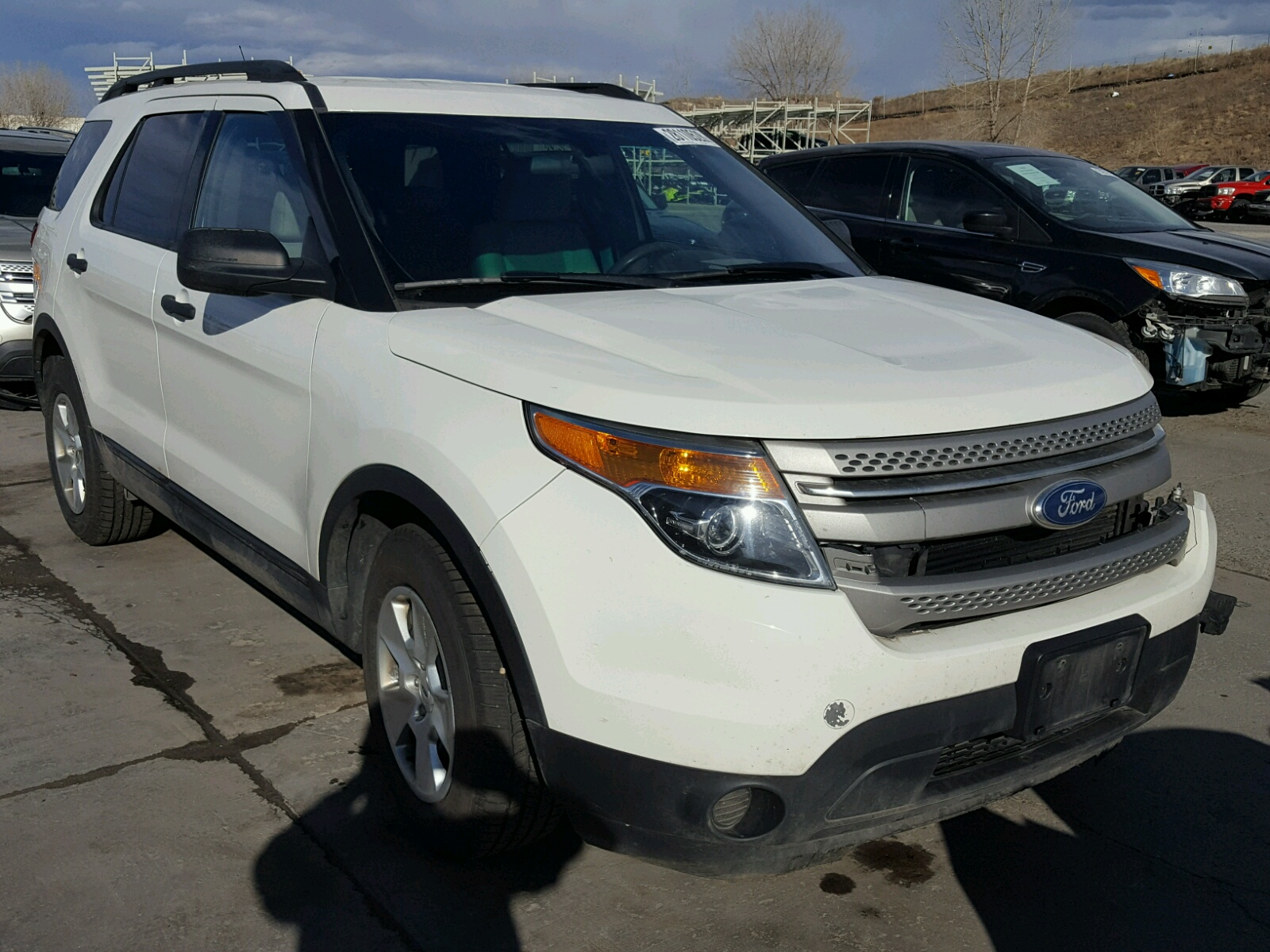 1fmhk7b93cga04746 2012 White Ford Explorer On Sale In Co Denver Sport 20l Left View