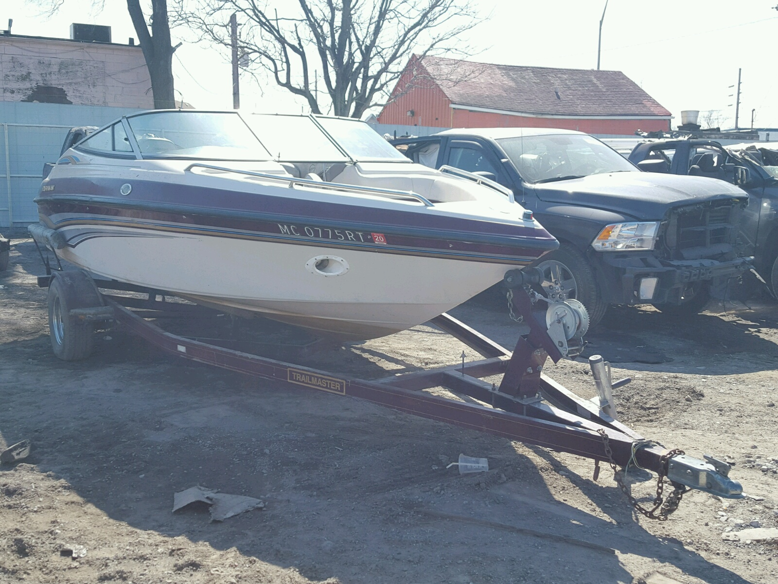 Salvage 1997 Crownline BOAT TRLR for sale
