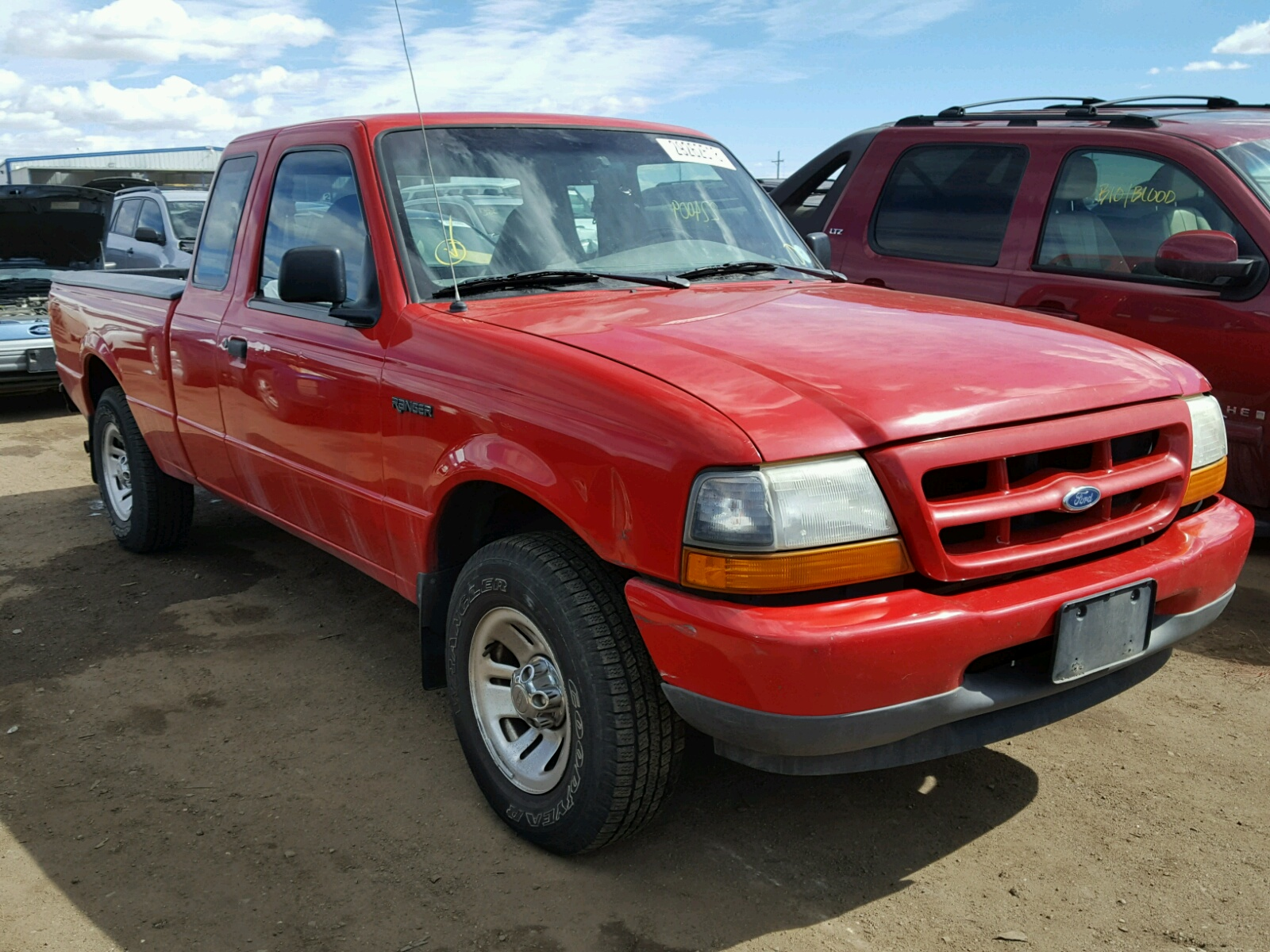 1ftyr14c1xpa42651 1999 Red Ford Ranger Sup On Sale In Co Denver 1955 F100 Value 4 Left View