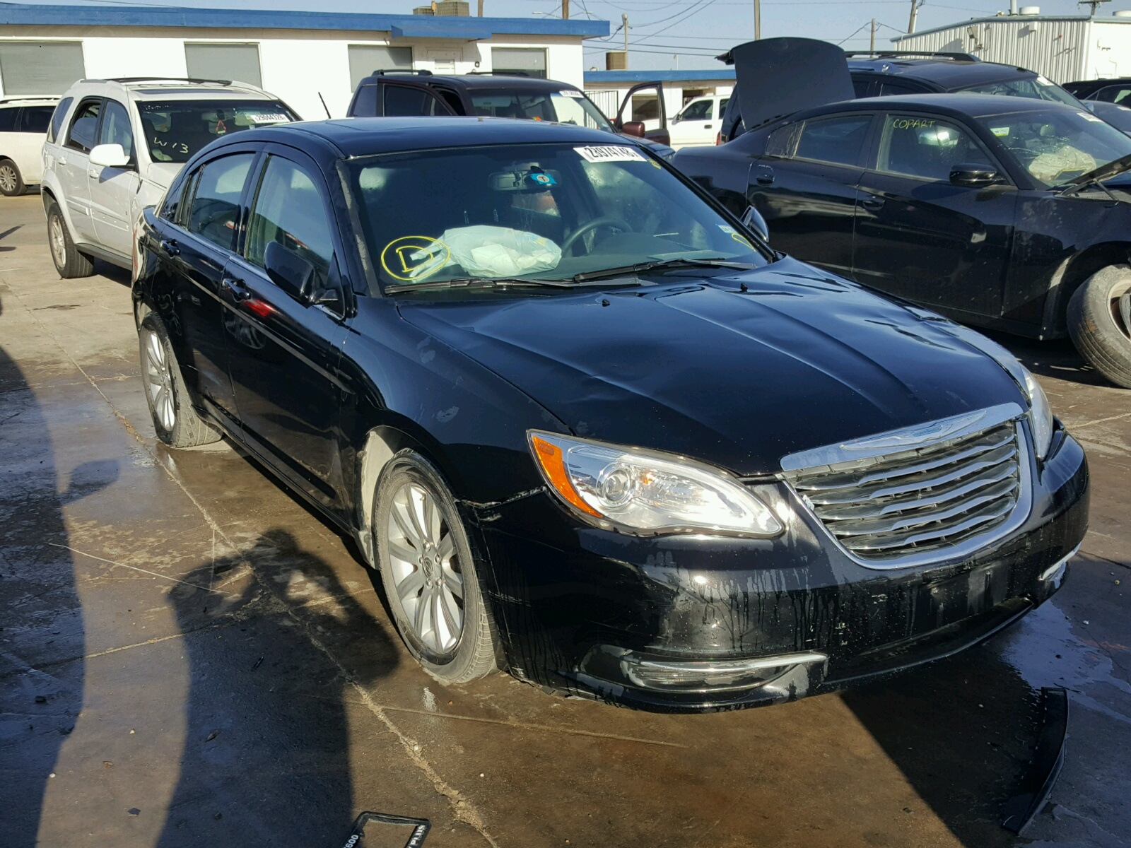 tx t online carfinder on auto vehicle view lot title en sale dallas auctions copart pacifica in salvage left teal chrysler