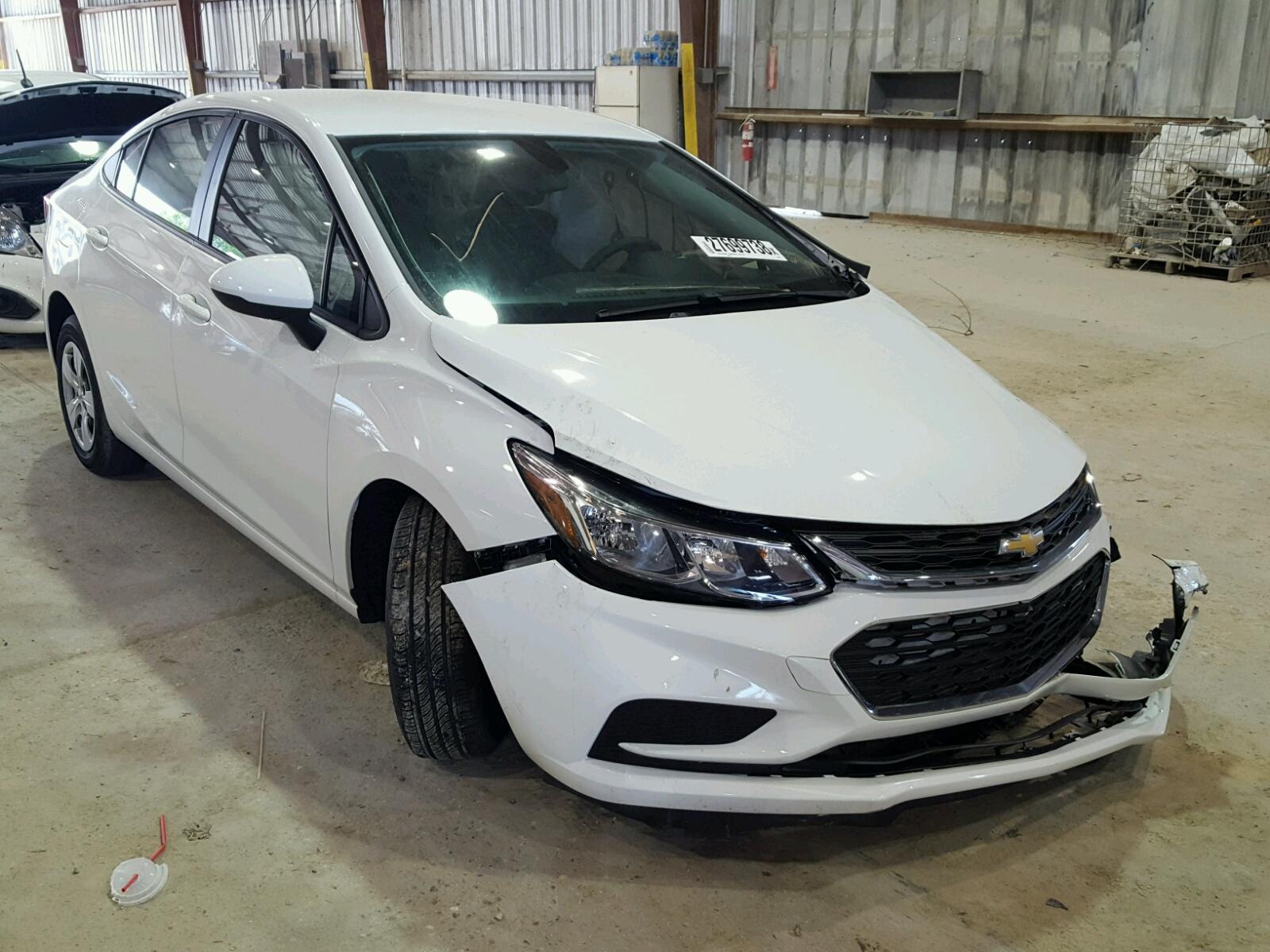 Salvage 2017 Chevrolet CRUZE LS for sale