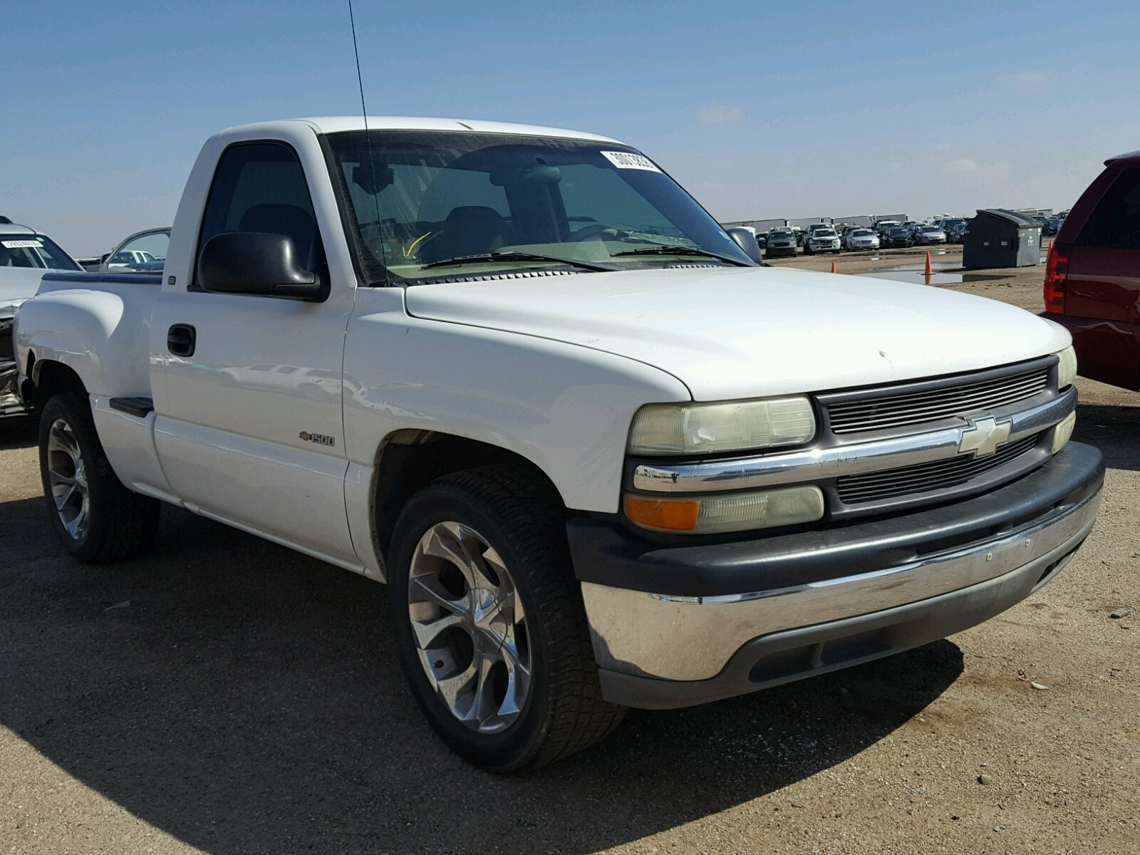 tx copart sale auto online auctions vehicle on en gray salvage title chevrolet amarillo silverado left in view lot carfinder