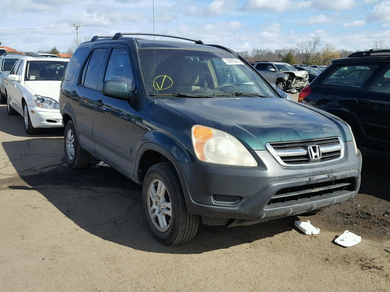 Shsrd78863u148988 2003 Green Honda Cr V Ex On Sale In Ct 24l Left View