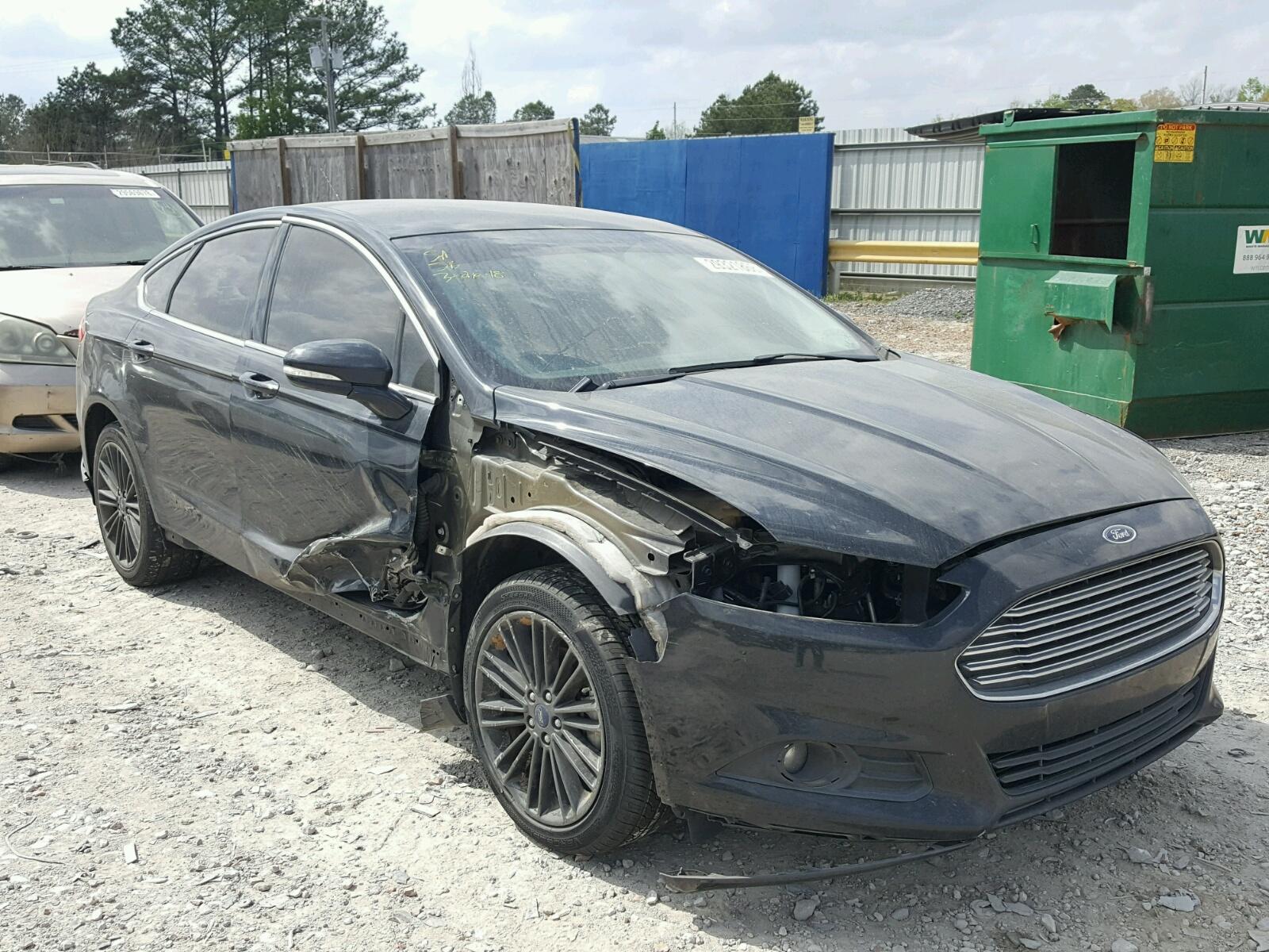3fa6p0hd6er217269 2014 Black Ford Fusion Se On Sale In Ms 15l Left View