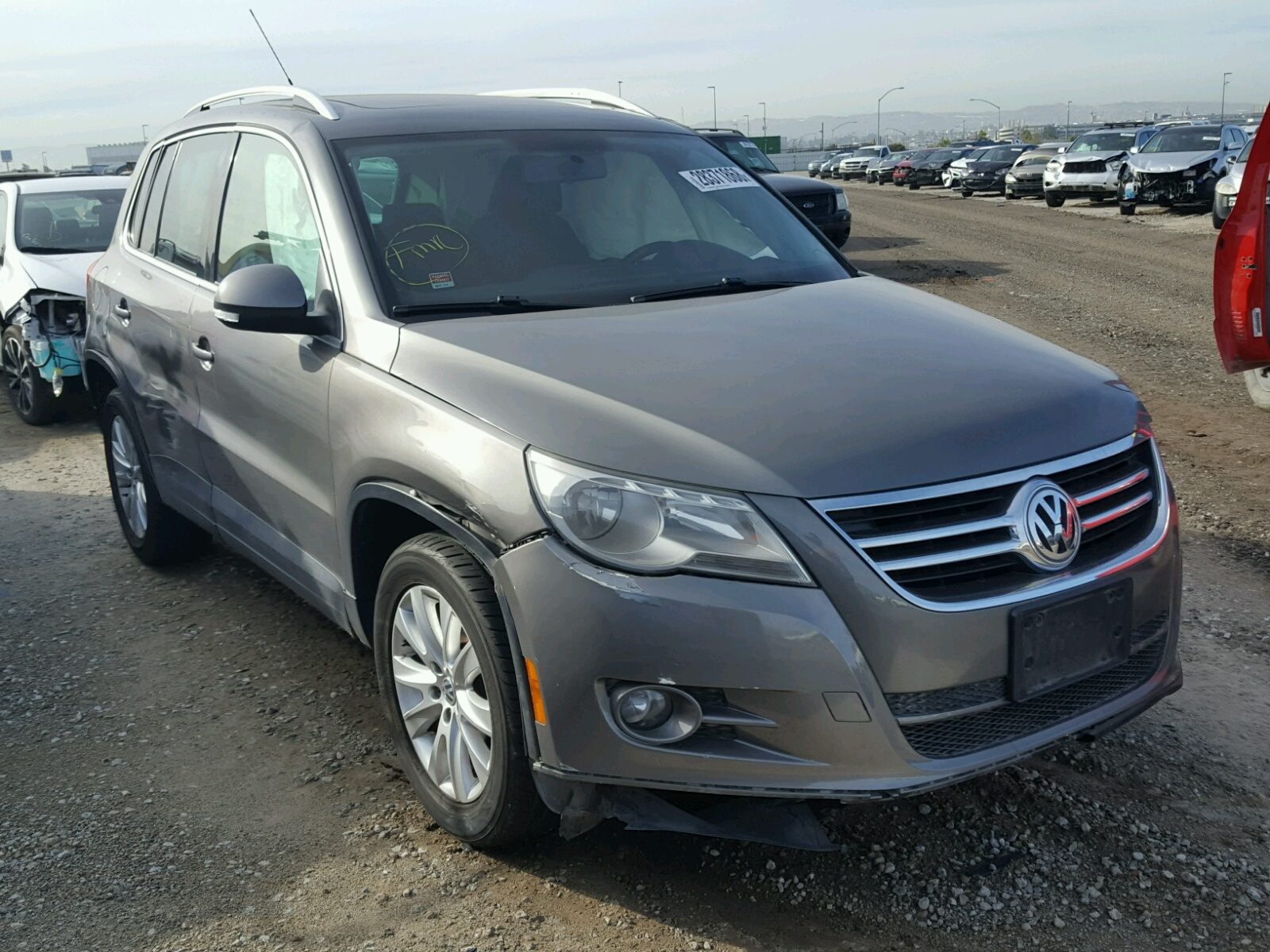 auctions lot vin san certificate auction online salvage en s volkswagen auto view copart tiguan diego on left ca carfinder ended