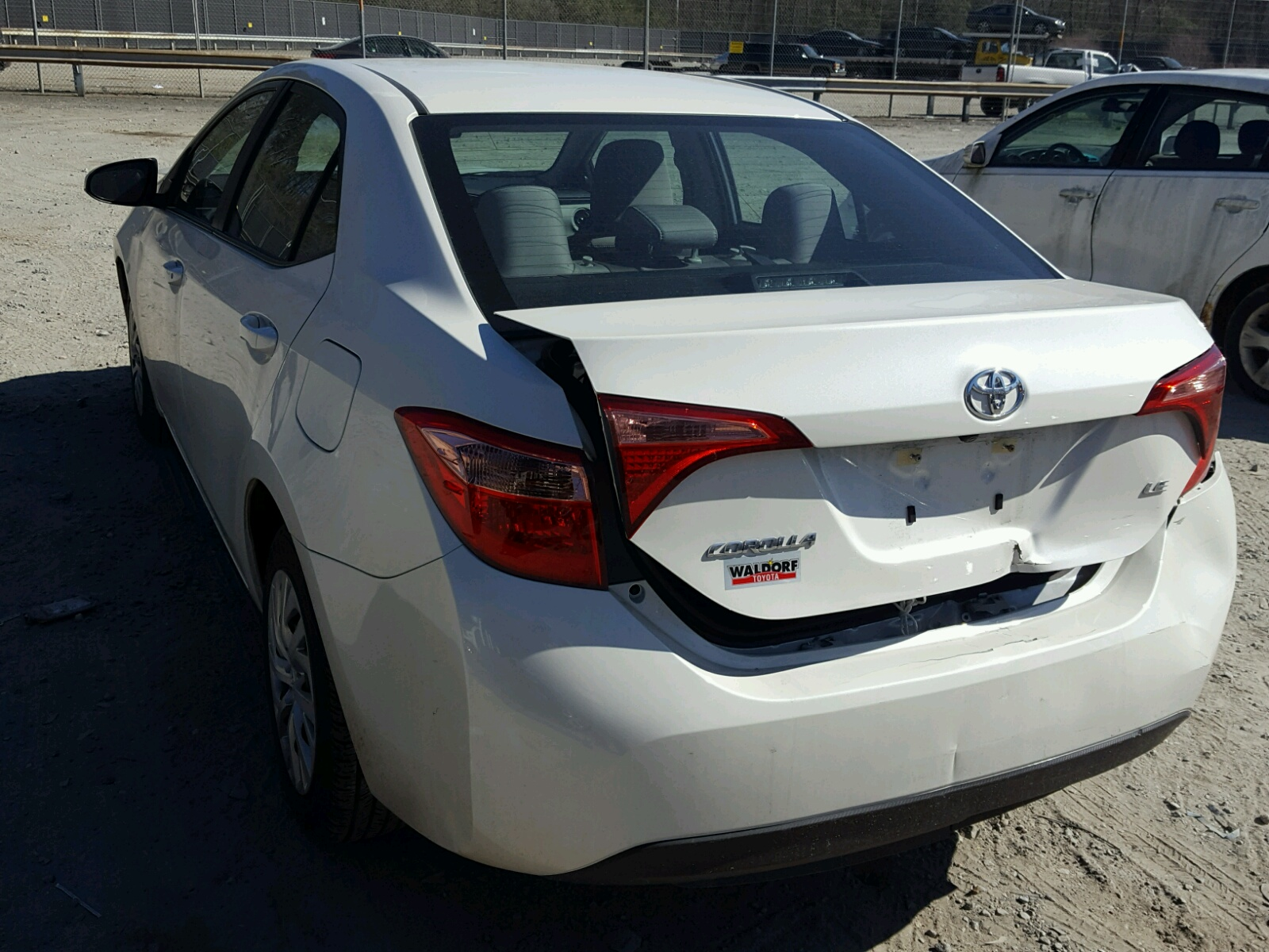 2017 Toyota Corolla L Front End Damage 5YFBURHE5HP Sold
