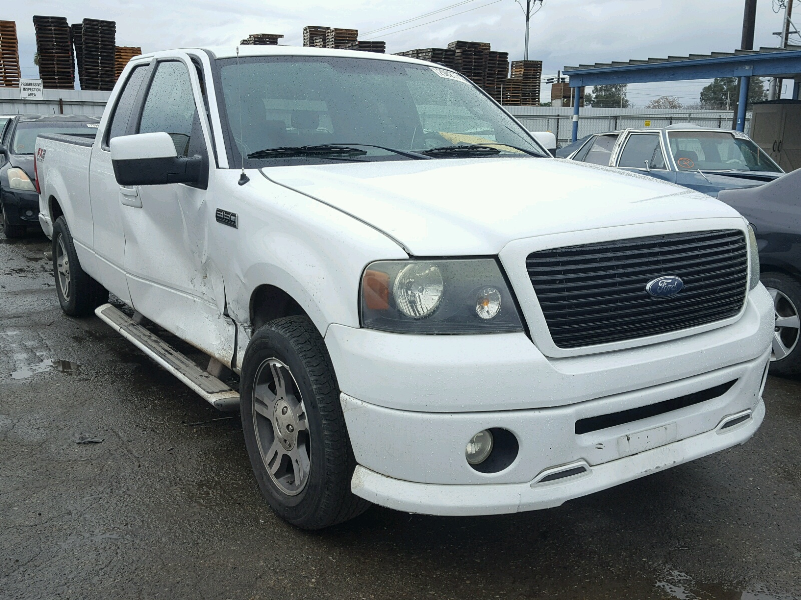 1ftpx12577na18050 2007 ford f150 5 4l left view