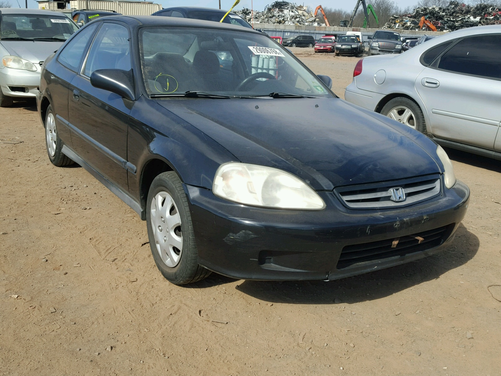 1HGEJ6223XL093420   1999 HONDA CIVIC DX 1.6L Left View
