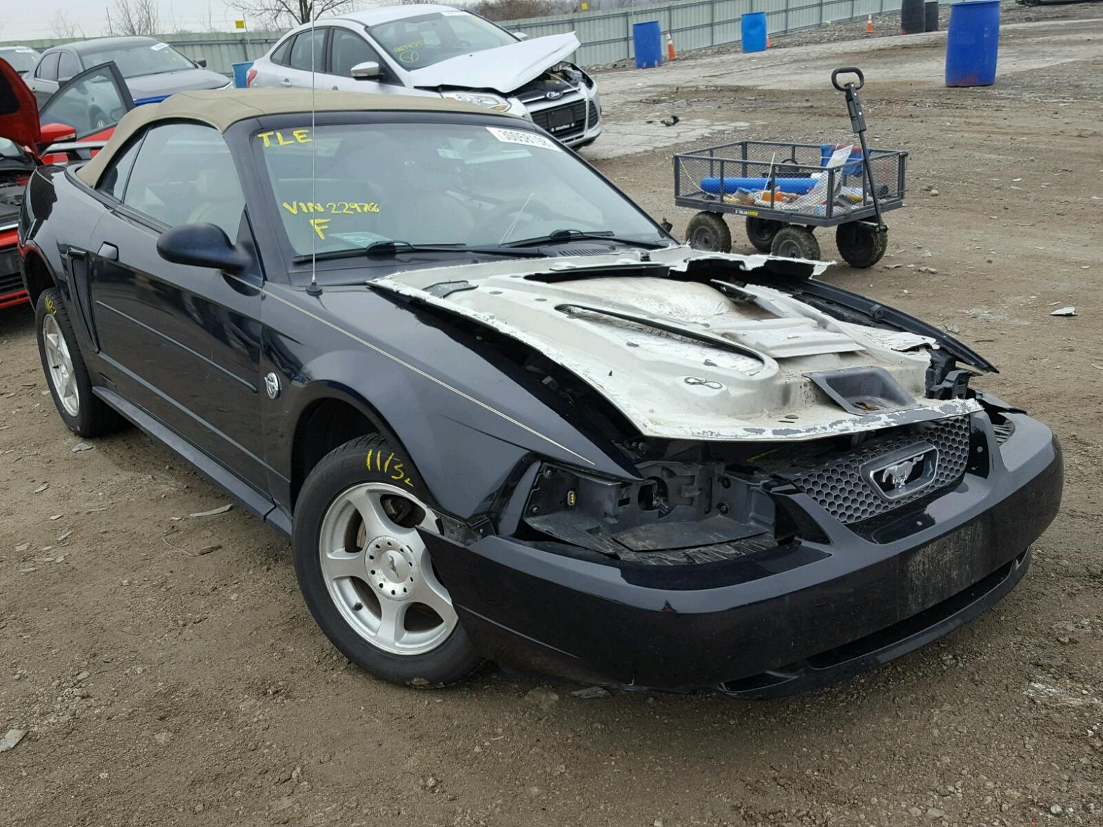 1FAFP44604F229766   2004 BLACK FORD MUSTANG on Sale in KS - KANSAS ...