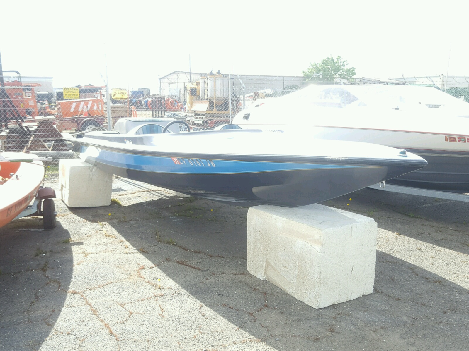Salvage 1984 Malibu BOAT for sale