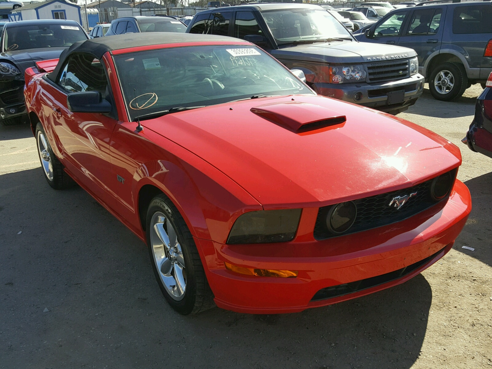 1ZVHT85H575266759 | 2007 RED FORD MUSTANG GT on Sale in CA - LOS ...