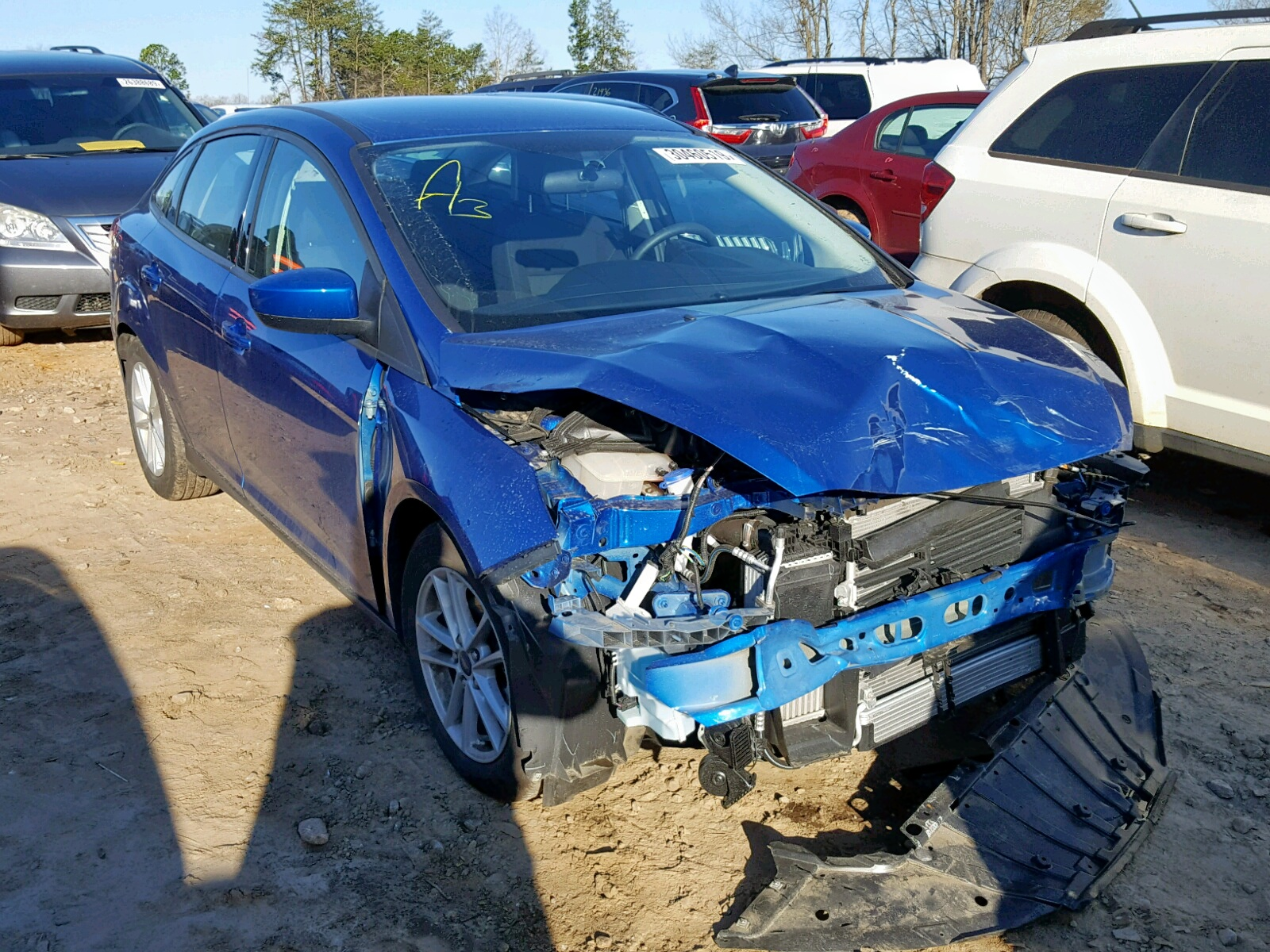 Salvage 2018 Ford FOCUS SE for sale